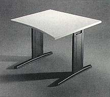 Single Surface Curved Manual Tables